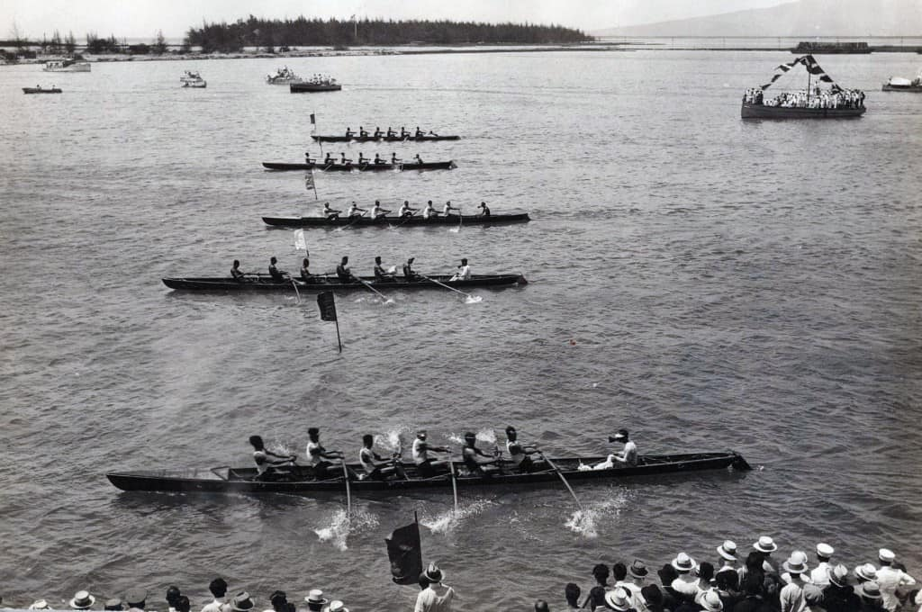 Regatta Day in Honolulu Harbor c1908.