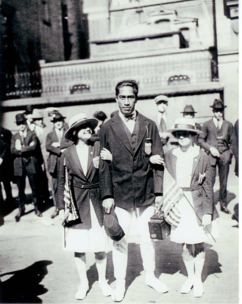 Duke Kahanamoku leads U.S. team into 1920 Olympic Games