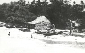Earliest OCC grass shack, circa 1908