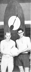 1952 Club Doubles champions Pat O'Connor and Gil Brightman.