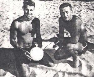 1958 Doubles Champs Bill Cross  and Pat Wyman.