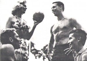 1958 Kane-Wahine winners were Lynn nd Bill Heilbron, top; and runners up, Ron Sorrell and Melva Snider, below.