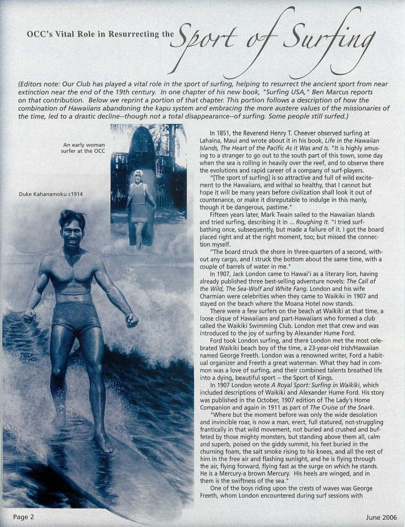 2006-06 OCCs Vital Role in Resurrecting the Sport of Surfing_Page_1