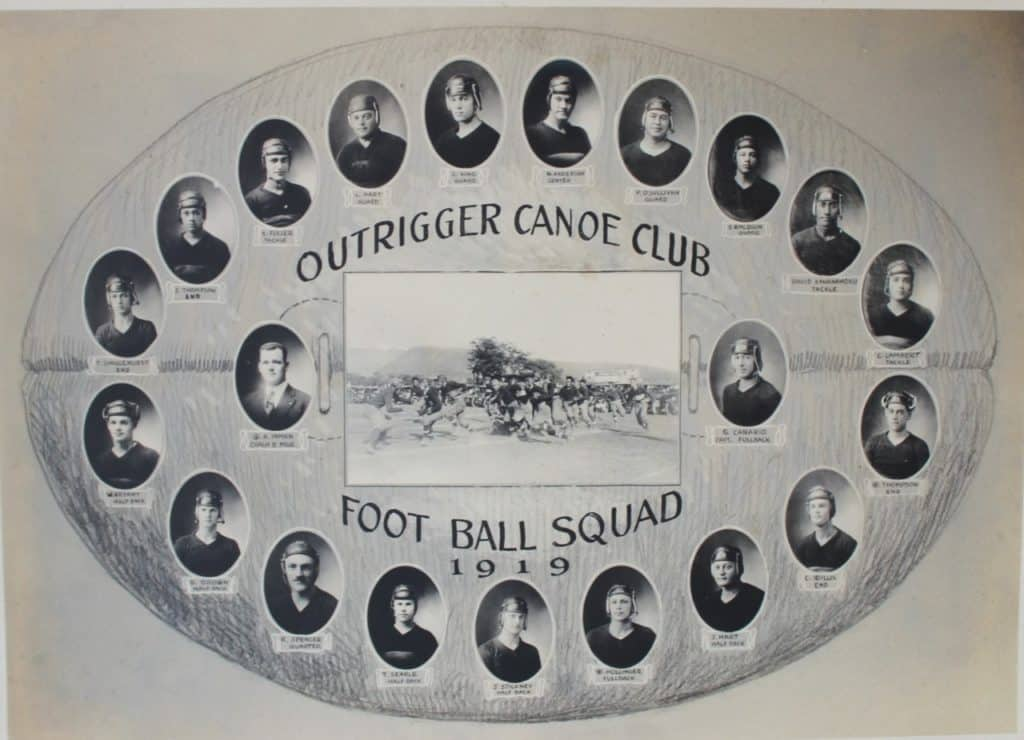 Outrigger Football team 1919